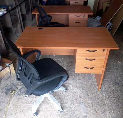 Midback office chair with its laptop desk image 1