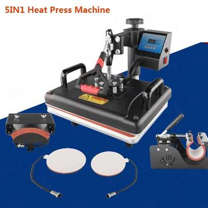 Sublimation Swing away 5 in 1 Heat Press Machine image 1