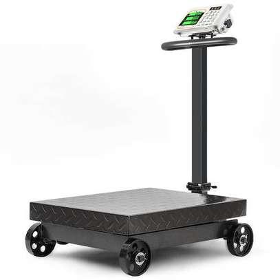 Wheel folding electronic  commercial  platform scale 600kg image 1