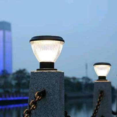 Solar pillar lights image 1