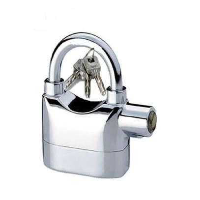 Top quality Kin Bar Security Alarm PadLock - silver image 1