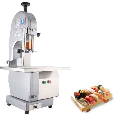 Commercial 650W Electric Meat Band Saw Bone Sawing Machine/Slicer for cutting frozen meat, Sawing pig's trotters, beefsteak with saw blade image 2
