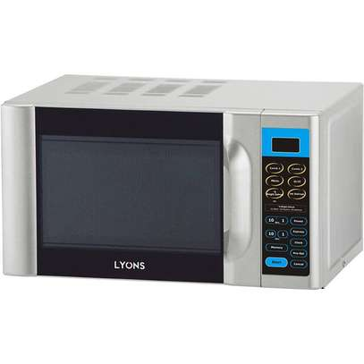 Lyons D70H20AL-D4, Digital Microwave Oven + Grill - 20L - Silver