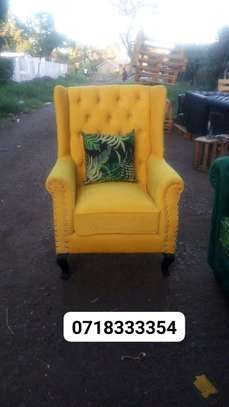 Beautiful Modern Quality Tufted Wingback Chair image 1