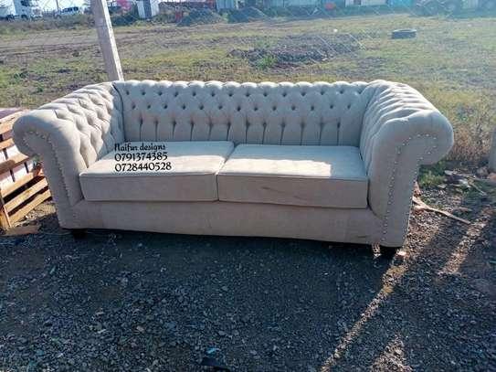 Three seater chesterfield sofas/beige sofas/modern sofas image 1