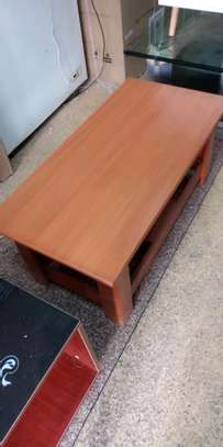 Coffee table with thick wood image 1