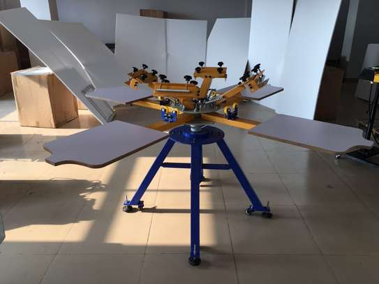 BRAND NEW SCREEN PRINTING MACHINE 4 STATION 4 COLOURS image 2
