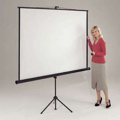 Tripod Projection Screen for Sale 60x60 Inches image 1