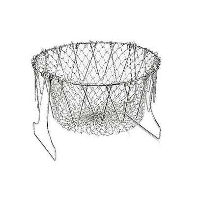 Chef Buddy Stainless Steel Steam / Fry / Wash Strain Basket (+ Free Gift Hand Towel). image 4