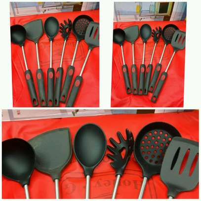 Nonstick spoons 6 piece set image 1