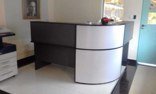 L-Shaped Reception Desk