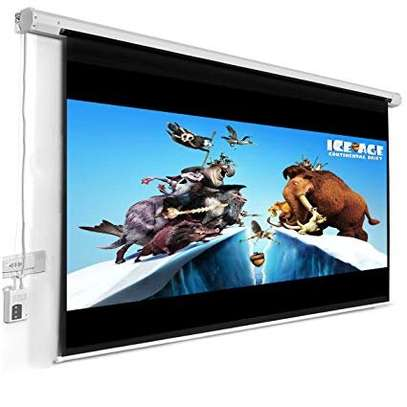 "ELECTRIC PROJECTOR SCREENS 120""X120"" MOTORIZED image 2"