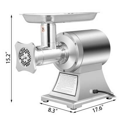 Commercial Grade 1HP Electric Meat Grinder 750W Stainless Steel Heavy Duty image 1