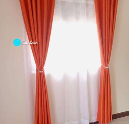 orange customized poly cotton curtains image 1