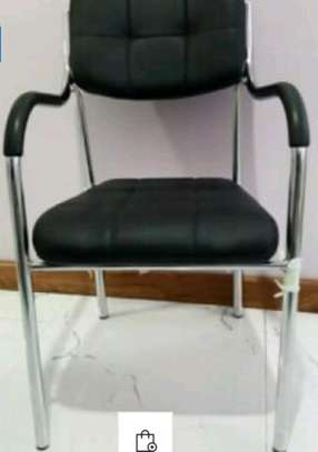Pu leather visitor chair