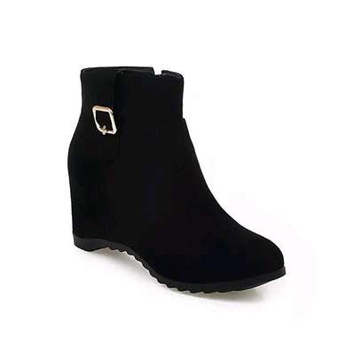 Ladies wedge boots