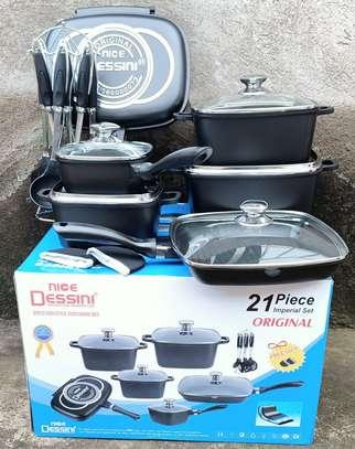 Dessini 21Pcs Imperial Non-Stick Die Cast Cookware Set image 5