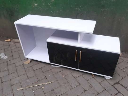 Wooden black& white tv stand 707s image 1