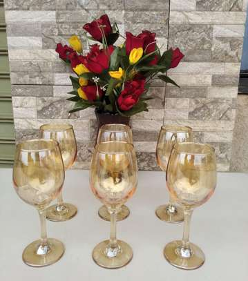 Gold Wine Glasses image 1