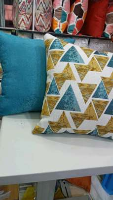 Throw pillows with covers image 1