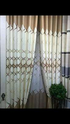 Browns and crime curtains image 1