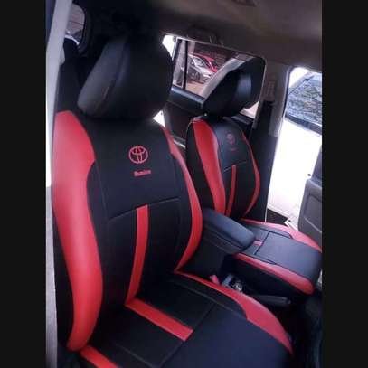 Car seat covers leather upholstery image 7