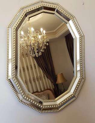Curved Golden mirror