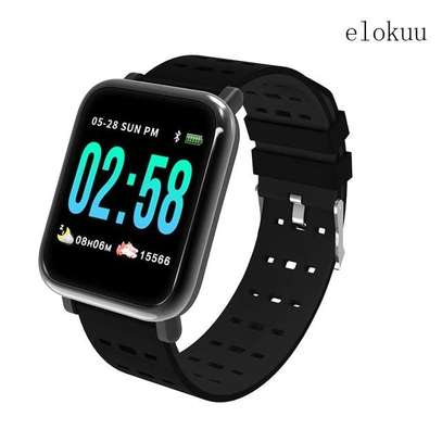 Big Screen Sports Bracelet New Heart Rate Blood Pressure A6 Smart Bluetooth Watch Bracelet image 2