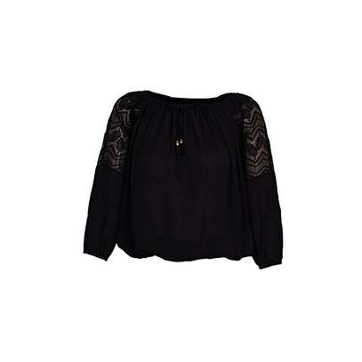 Chiffon Top With Lace Details On Arm image 1