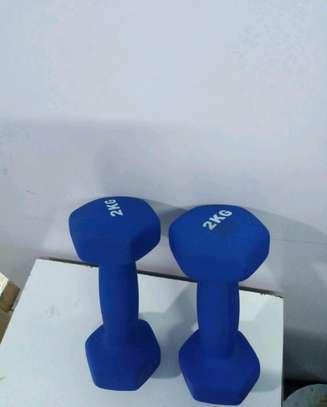2kgs Neoprene Dumbbells image 1