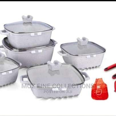 15 Piece Granite Cookware Set image 1