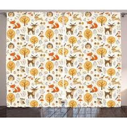 Cartoon print curtains image 1