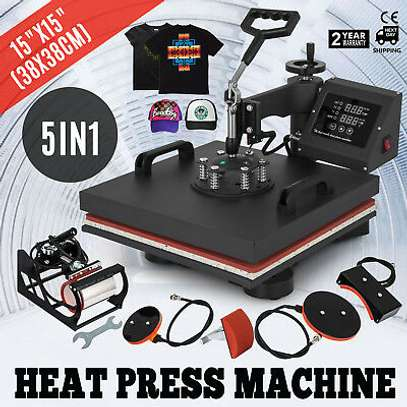 combo 5 in 1 Heat press machine image 1