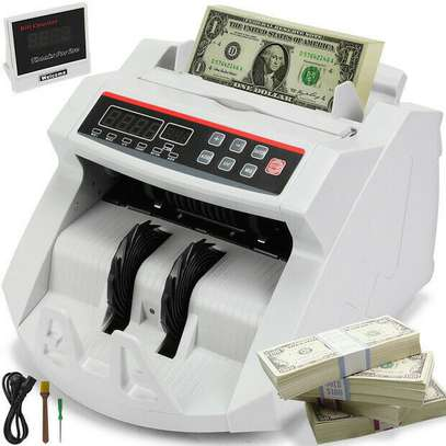 Money Counter for EURO US DOLLAR Bill Cash Counting machine image 1