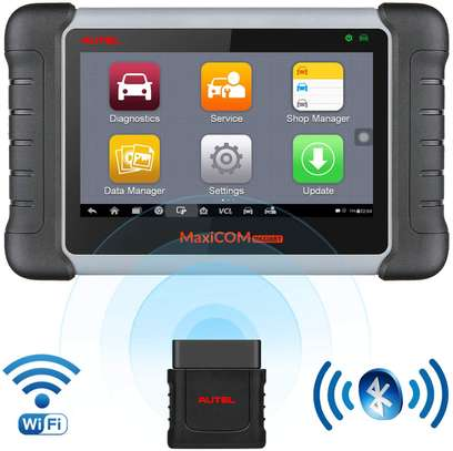 Autel Scanner MaxiCOM MK808BT Diagnostic Tool, Upgraded Version of MK808, with MaxiVCI Supports Full System Scan & IMMO/EPB/SAS/BMS/TPMS/DPF, ABS Auto Bleed Function