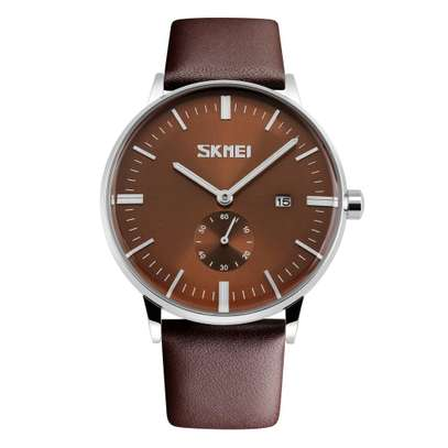 SKMEI Luxury Leather Strap Business Watch 9083 image 1
