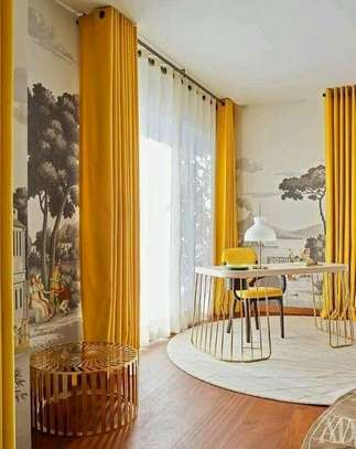 Curtains yellow