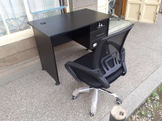 Office Desk 1Meter Black & Chair Ksh. 12,500.00 With Free Delivery image 6