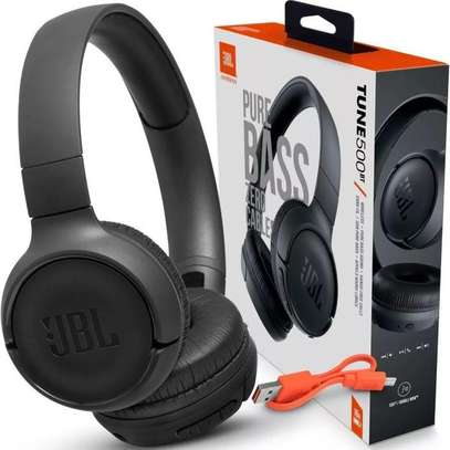 JBL Tune 500BT Bluetooth Wireless On-Ear Headphone with Mic JBL Pure Bass Sound Noise Canceling Foldable Headset Sport Earphones image 1