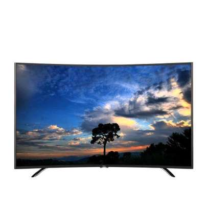 TCL 55 Inch UHD 4K Smart  Curved TV image 1