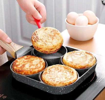 *High Quality heavy granite non~stick 4slot pancake/egg  pan image 2