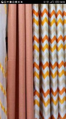 Orange Double Sided Curtain image 1