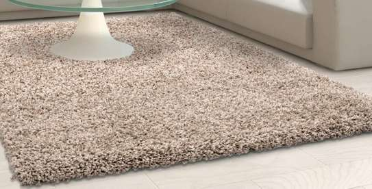 Carpet beige in color Turkish shaggy carpet image 1