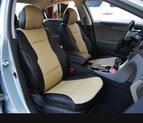 Car seat covers leather upholstery image 3