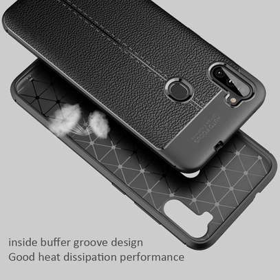 Auto Focus Leather Pattern Soft TPU Back Case Cover for Samsung M11/A11 image 2