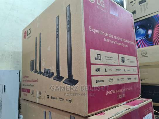 LG 756 1200 watts home theater system image 1