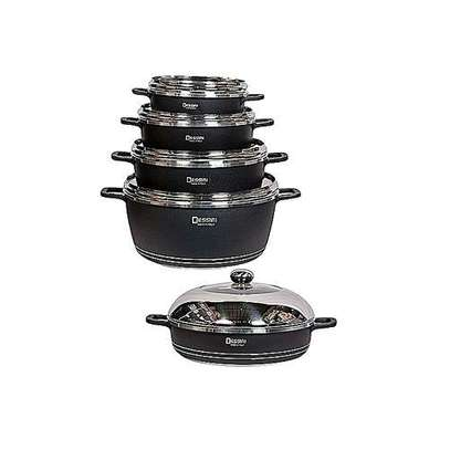 Dessini Non-Stick Cooking Pots Cookware set - 10pcs Dessini Die cast Set. image 1