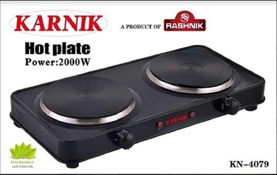 Rashnik KN-4079 Double Hot Plate Electric Burner-2000Watts Black image 1