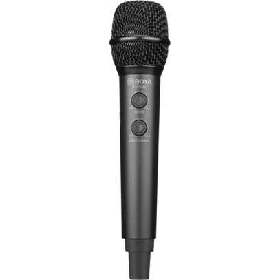 BOYA BY-HM2 DIGITAL HANDHELD MIC WITH USB-C USB-A LIGHTNING CABLE image 1
