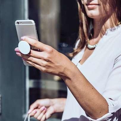Pop Up Phone Holder Selfie Grip Finger Socket Stand image 1